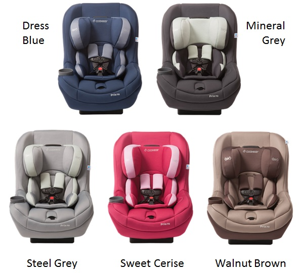 Pria 70 Convertible Car Seat 5 New Colors