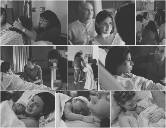 Rowan Bridget Birth Collage