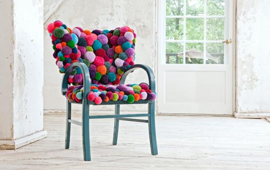 MYK pom-pom chair