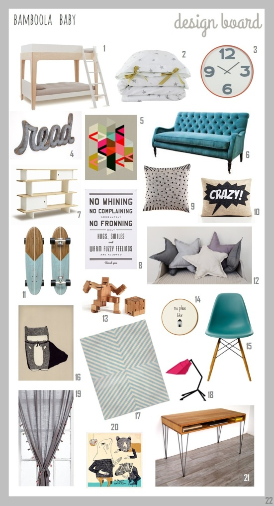 Bamboola Baby Nursery Interior Design Board 2014-01-A4