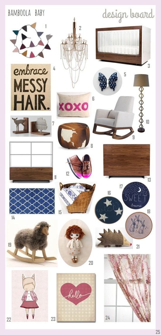 Bamboola Baby Design Board 2014-01-Baby Girl Nursery