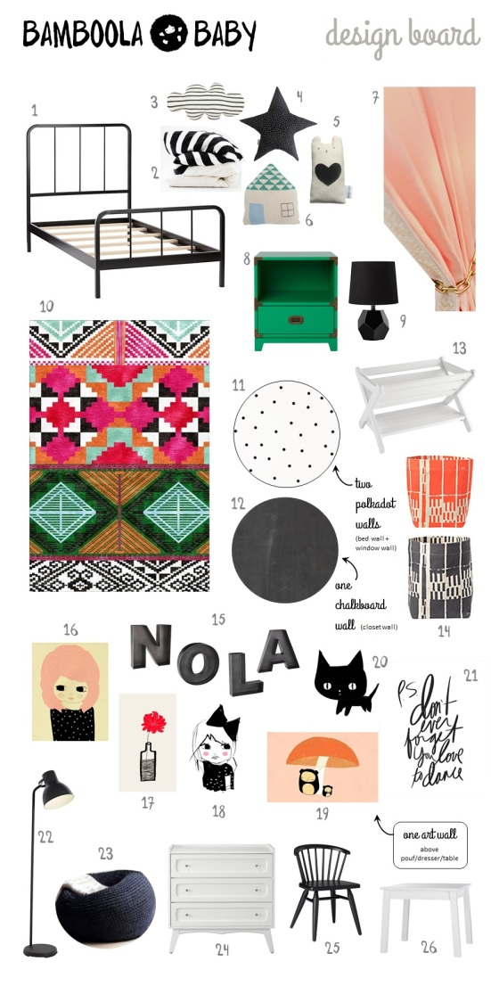Bamboola Baby - Nursery - Design Board - Nola's Room