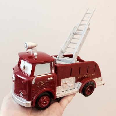 Disney The Cars Red Fire Engine Truck