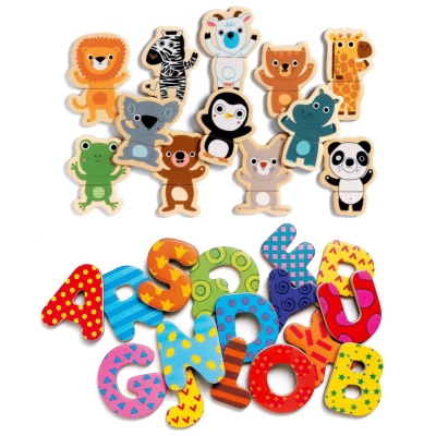 Djeco magnetic puzzles and letters